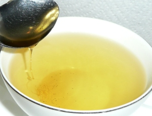 lemon honey in lemon grass tea 2