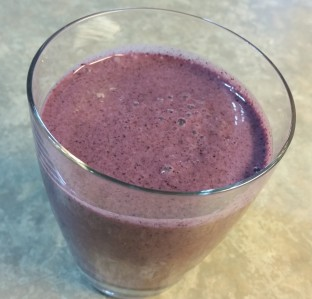 Blueberry lavender honey smoothie