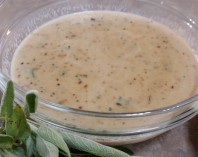 pork peach sage gravy 3