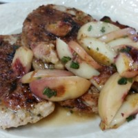 Peaches, Pork and Sage with Gravy